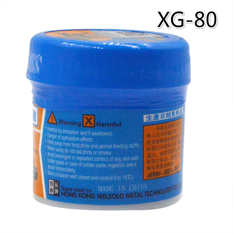 60g Soldering Paste Flux XG-80 Solder Tin Sn63/Pb67 For Hakko 936 TS100 852D++ Soldering Iron Circuit Board SMT SMD Repair Tool