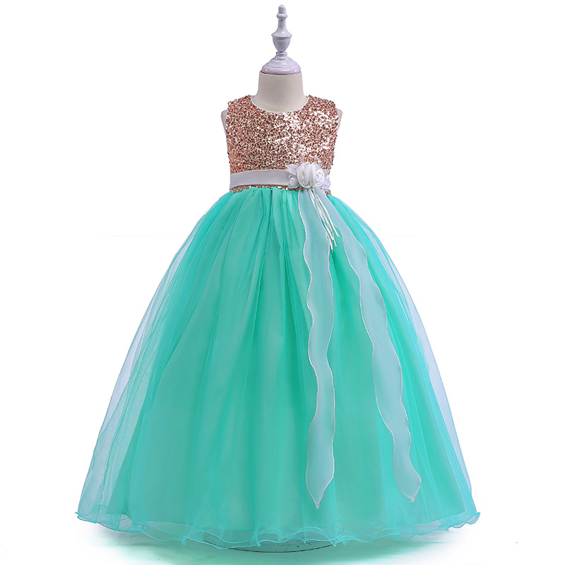 2018   Girls   Pageant   Dresses   Ball Gown Scoop Cap Sleeves Organza Sequins Sparkle   Flower     Girl     Dresses   First Communion   Dresses