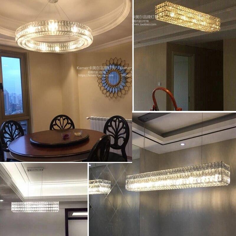 LED lampadario in stile Moderno Cristal Lampadari di Illuminazione Rotonda Lampadario di Cristallo Halo - 6