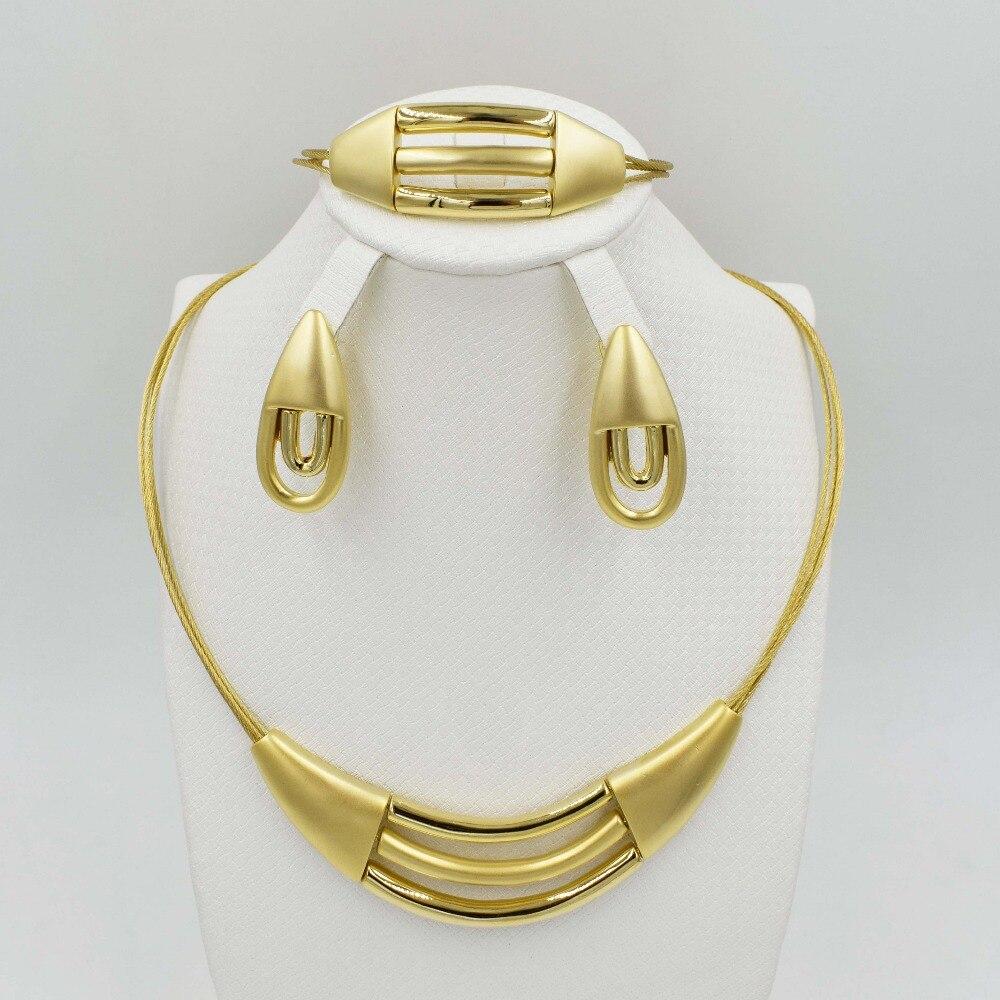 Nuevo de Alta Calidad Conjunto de Joyas de oro Dubai 3 color color realNigerian