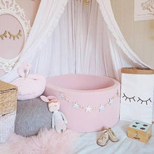 Baby Room Decor Bed Bumper Wooden Star Beaded Design DIY Handmade Wall Tent Hanging Baby Crib Decoration Colorful Ins Style(China)