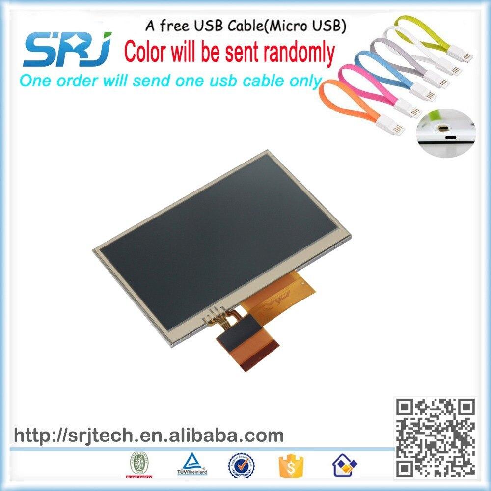 4.3 Inch Original For Sharp LQ043T1DH01 Garmin GPS Navigation LCD Display Screen Panel+A Free USB Cable