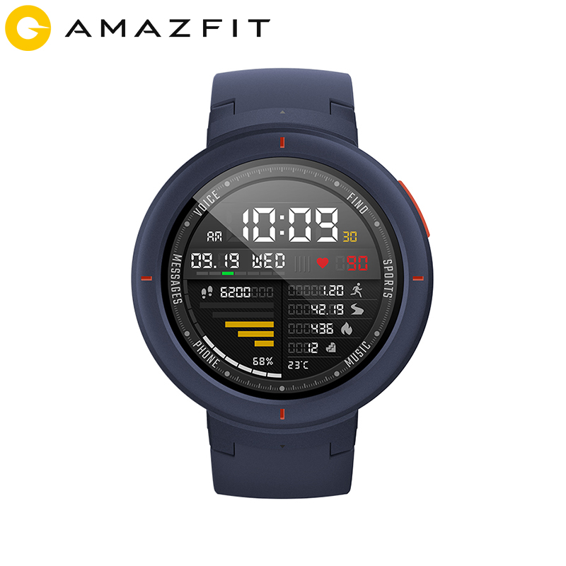 Huami Amazfit Verge English Version Sport Smartwatch GPS Bluetooth Music Play Call Answer Smart Message Push Heart Rate Monitor