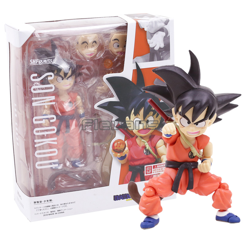 SHF SHFiguarts Dragon Ball Z Kid Child Son Goku Gokou PVC Action Figure Collectible Model Toy dragon ball z sun goku master roshi pvc action figure collectible model toy 4pcs set 10 15cm free shipping page 1 page 4