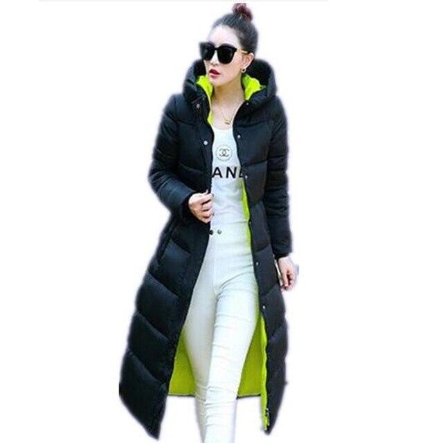 2016 Вниз Пальто Парки женские Зимние Куртки Зиму Куртка Женщин Высокого Качества Теплый Женский Утолщение Теплый Парка Капот JX033