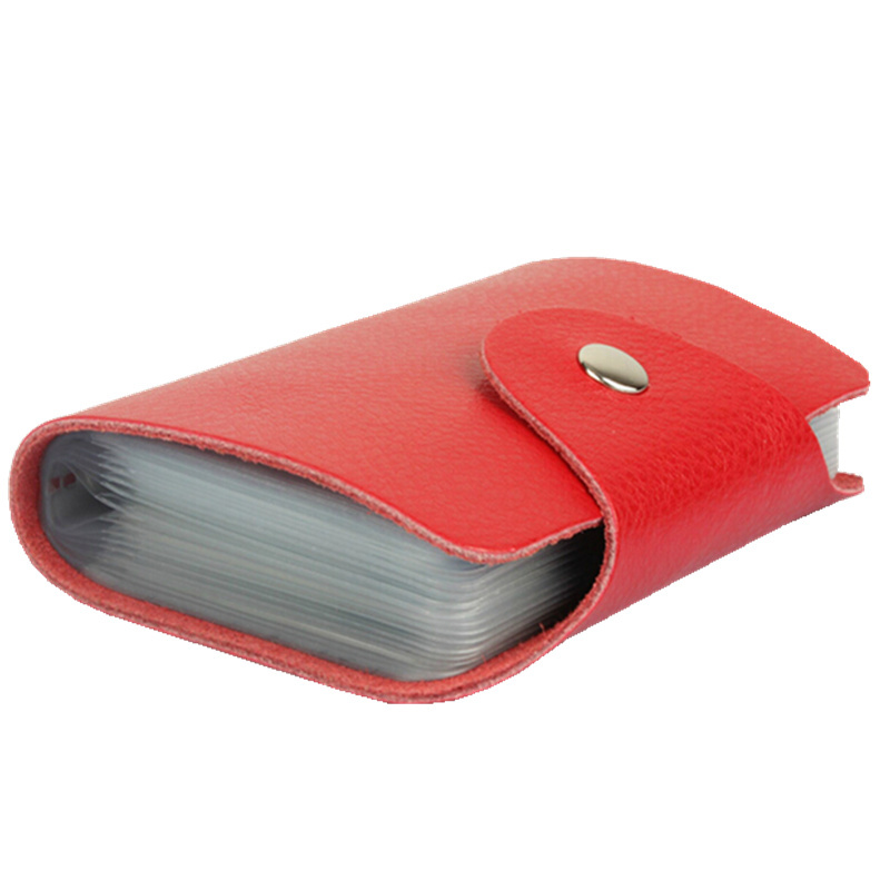 Tracking service 100% Genuine leather card holder , Wholesale card case wallet cc05