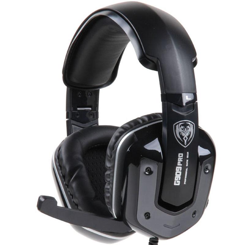 Prix pour Bandeau gaming headset 7.1 souheadband filaire vibrations écouteurs usb avec micro pc stéréo ordinateur portable de marque somic g909 pro