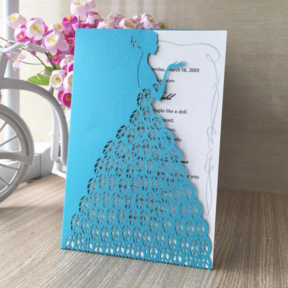 Hot high quality elegant romantic laser cut wedding invitation ...