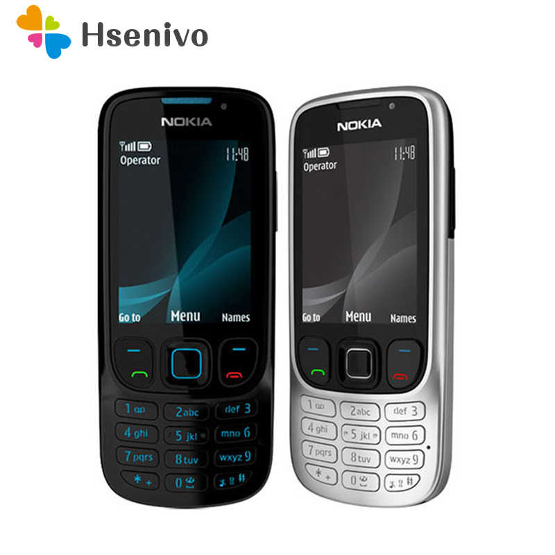 6303c Original Unlocked Nokia 6303 Classic FM GSM 3MP Camera Mobile phone Russian keyboard support~Free shipping