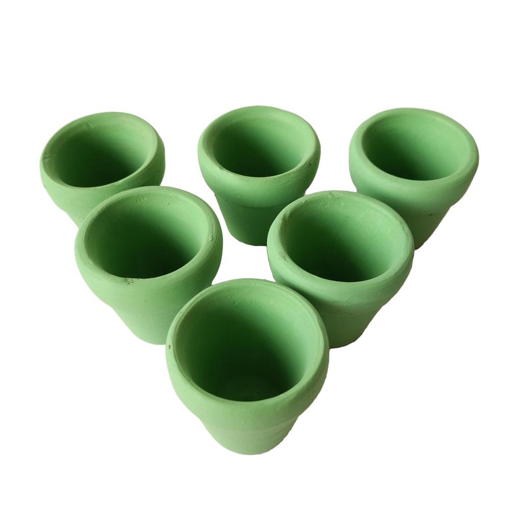 dxhcm mini verde cubos de flores pequeas de arcilla de cermica maceta de flores macetas de