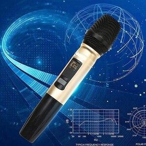 Image 5 - Ux2 uhfワイヤレスマイクシステムハンドヘルドledマイクuhfスピーカーポータブルusbレシーバーktv dj音声アンプ記録