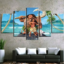 HD Print Painting 5 Pieces Moana Canvas Wall Art Picture Home Decoration Living Room Decor