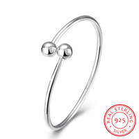 Simple Design 100 925 Sterling Silver Bangles Women S Fashion Jewelry Fine Wedding Gifts Top Quality