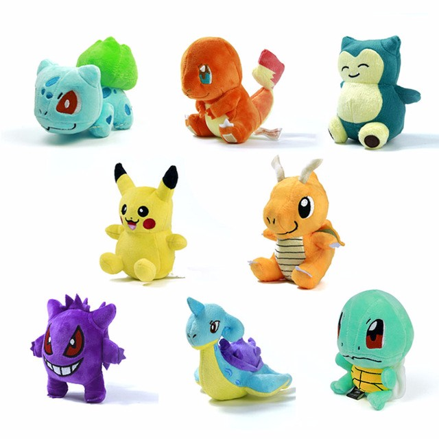Jucarii de plus papusa 15 tipuri 15cm Charmander Pikachu Eevee - Păpuși și jucării umplute