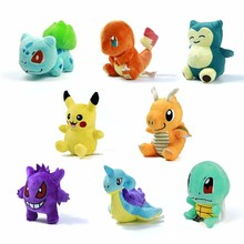 Фотография Plush doll Toys 15 types 15cm Charmander Pikachu Eevee Snorlax Cute Dragonite Cartoon Stuffed Toy Dolls Gifts