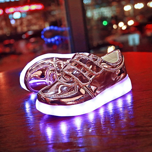 Children's USB Charging Luminous Shoes Bright Boys Led Flashing Sneakers with Led Light Kids Baby Glowing Canvas Size25-34 children s shoes girls boys shoes led tennis glowing sneakers with luminous sole usb charging magic stickers kids shoes