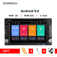 2Din Android 9.0 Car Multimedia Video Play Tap PC Tablet For Nissan qashqai x trail almera note juke GPS Navigation Radio Stereo