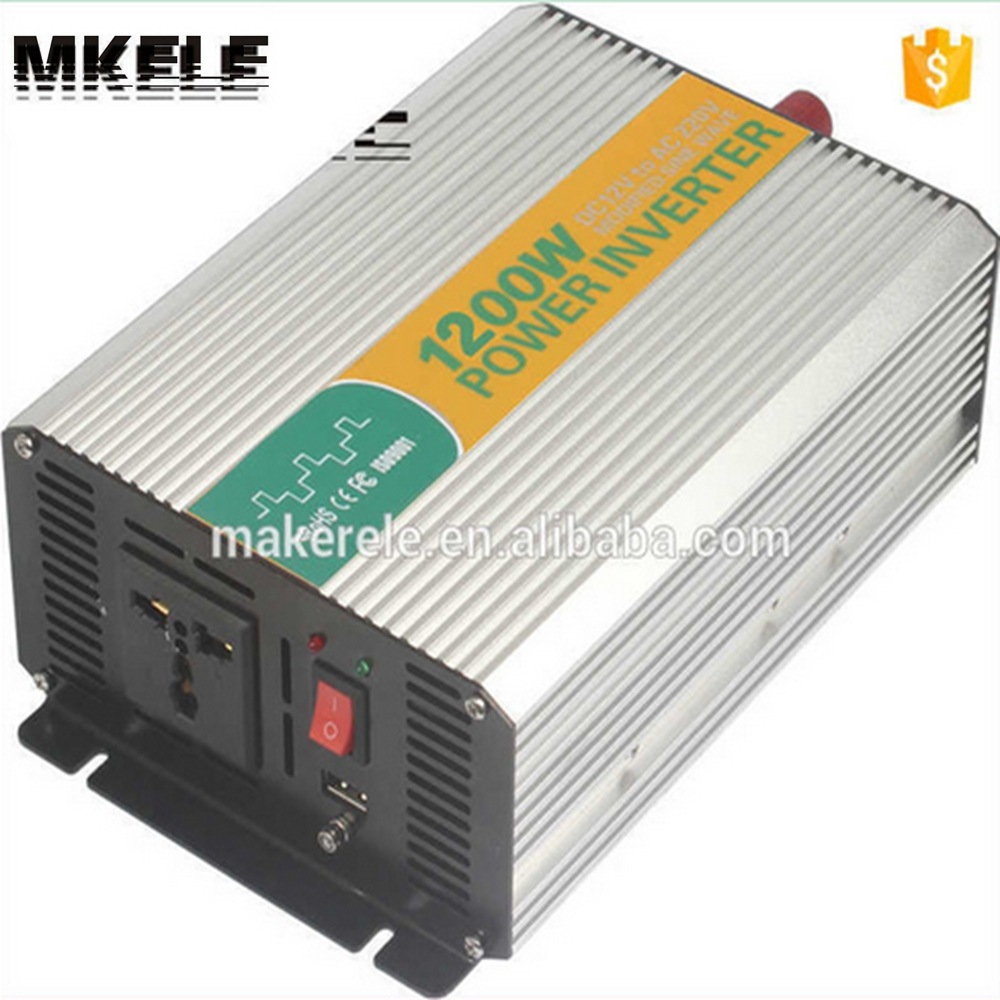 цена на MKM1200-121G modified sine wave 12v to 110v inverter 1200w power inverter,safe power inverter for home made in china