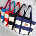 Fashion Unisex Women Men Reusable Cotton Linen Eco Friendly Shopping Bag Grocery Tote Patchwork Shoulder Handbag tote bag ZX-056