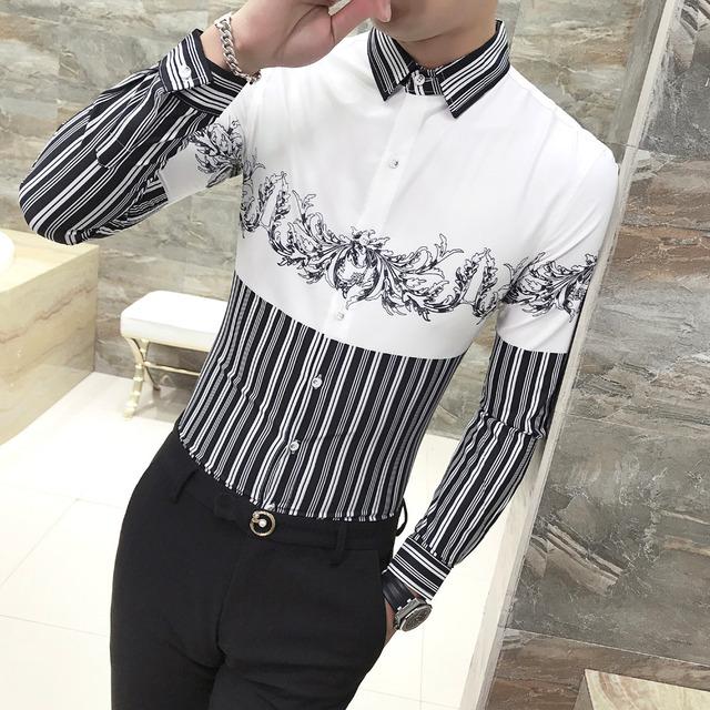 Men Shirt long sleeve stylish Print
