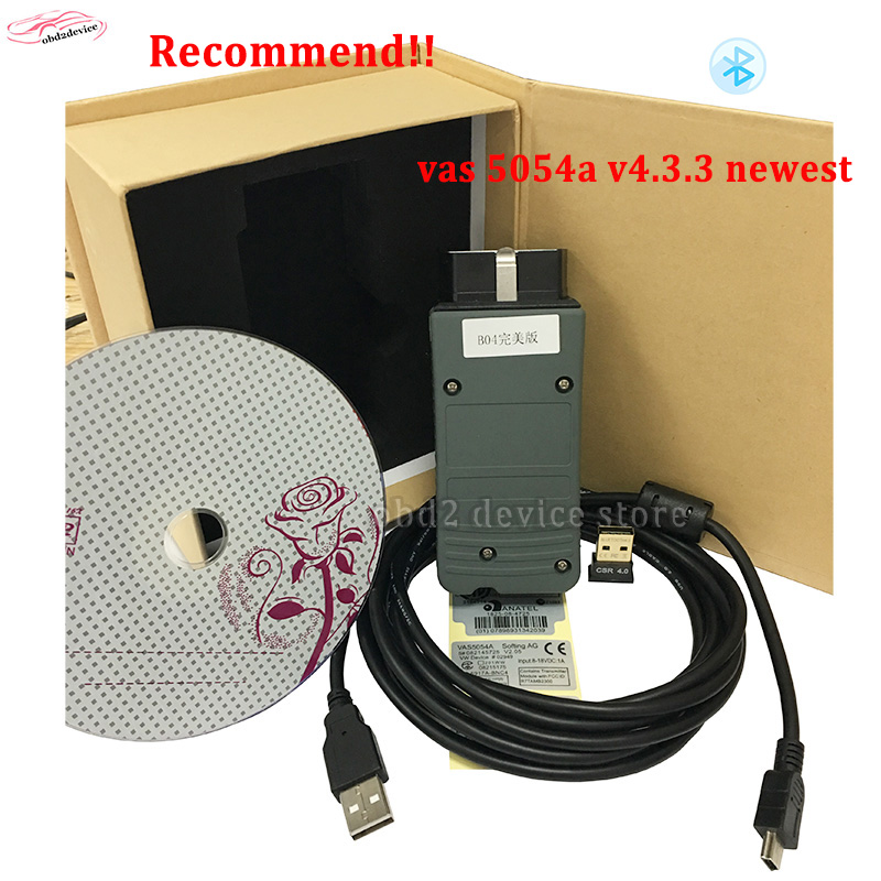v4.33 VAS 5054A Full Chip OKI+ Bluetooth ODIS 4.33 newest Version better than 5054a 4.2.3 VAS5054A VW VAS5054 Diagnostic Tool high quality vas5054a with oki full chip car diagnostic tool support uds protocol vas 5054a odis v4 13 bluetooth for audi for vw