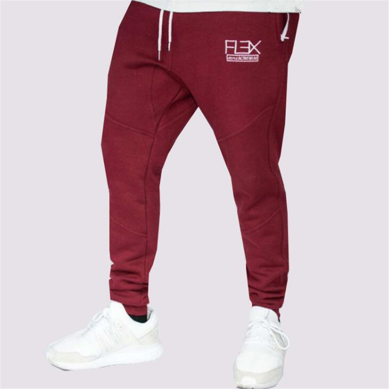 GYMLOCKER Brand Mens Bodybuilding Pants Casual Joggers Cotton Trousers Golds muscle guys Professional gyms Fitness Sweatpants