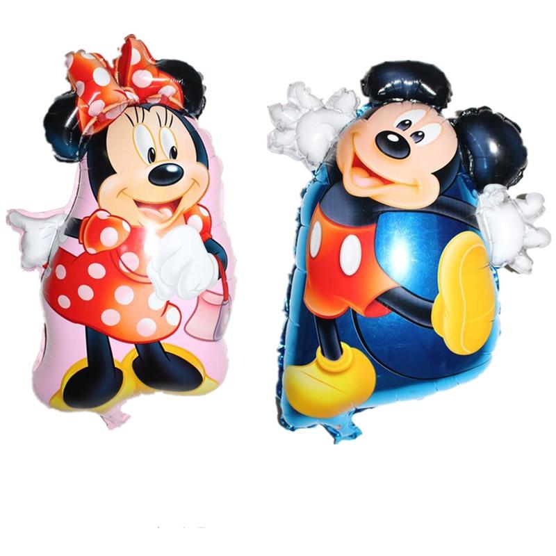 2psc/new Mickey Minnie aluminum balloon childrens toys balloon birthday wedding party decorations supplies