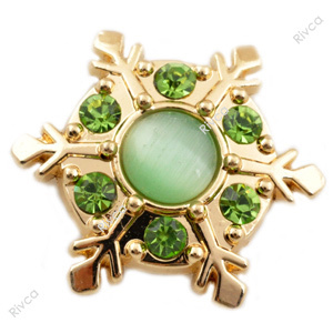 D00975 Christmas rivca stass metal jewelry snap button for bracelet snow ...