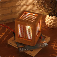 Japan style Table Lamps study square lamp creative personality wooden bedroom bedside lamp simple wood lattice LU816321
