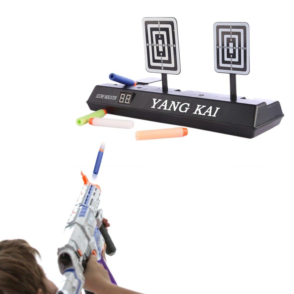 Haute recommande Score électrique tir cible pour Nerf Blaster jouets balles souples cadeau jouets pour enfants offre spéciale-noir