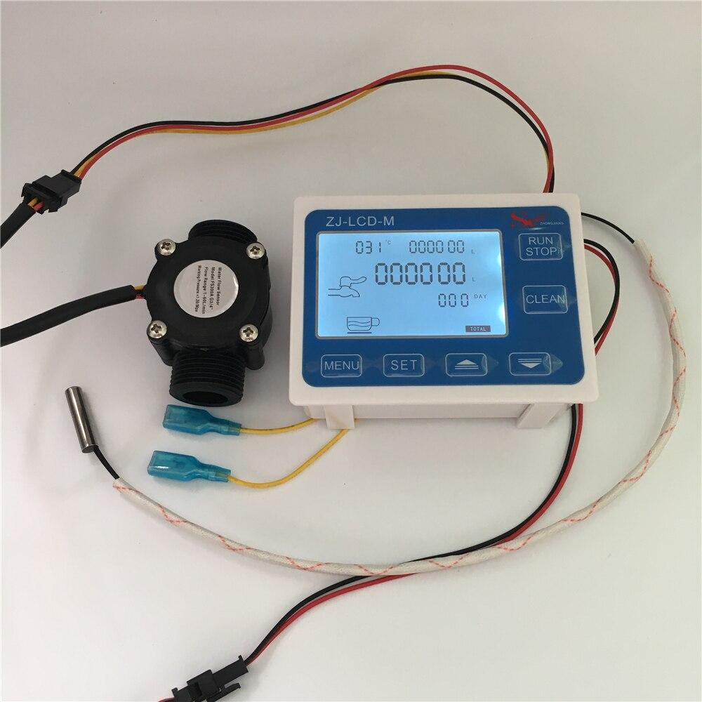 ZJ LCD M flow meter temperature G3 4 flow sensor LCD Display controller for water liquid