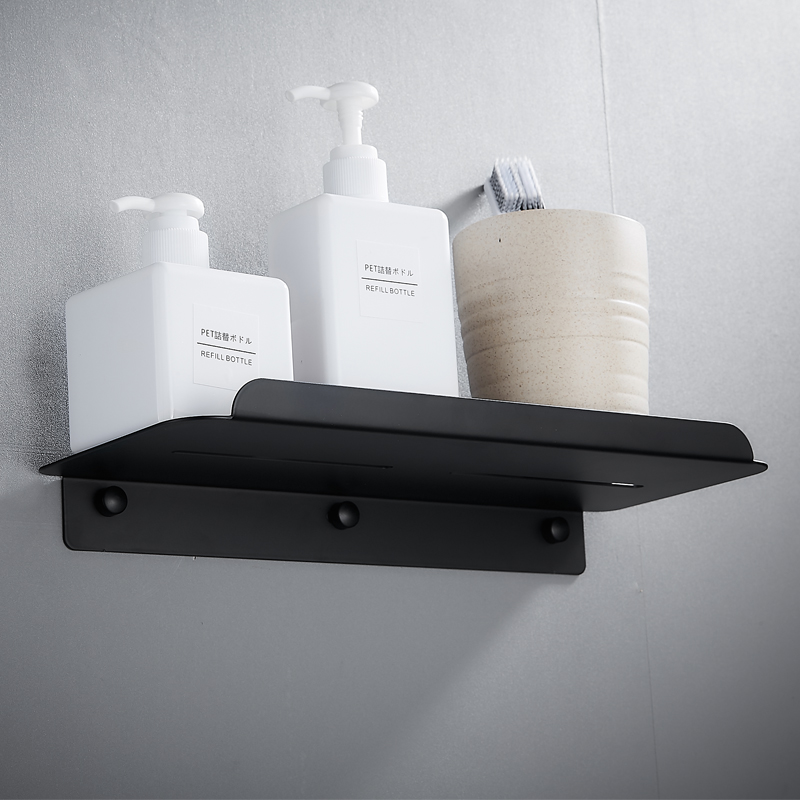 Black Bathroom Shelf Organizer Stainless Steel Bathroom Shelves Shower Storage Rack Wall Mounted Corner Caddy Shampoo Holder in Bathroom Shelves from Home Improvement