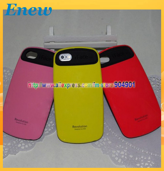 Free shipping Korea Style Candy Color iFace Second Class Case For iPhone 5 5G with retail package