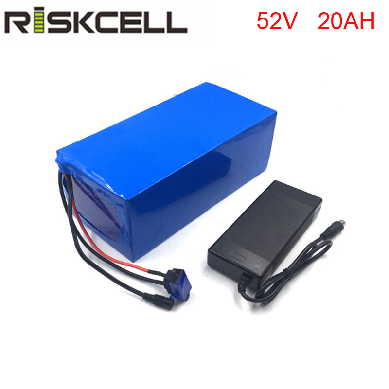 DIY 14S9P 51.8V battery pack 52V 20Ah 18650 customized lithium ion battery packs with 30A bms and charger