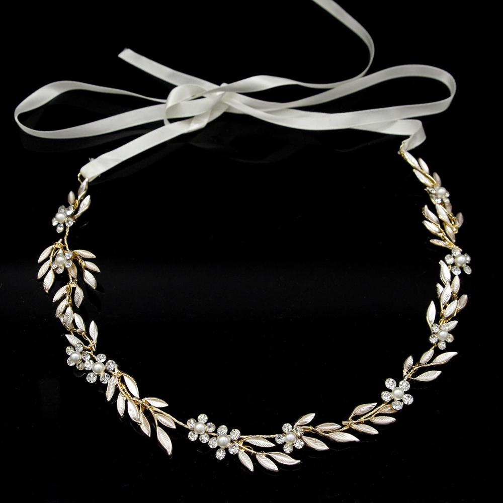fashion handmade crystal leaves hair lead pack explosion head wear headband brides leaves in Hair Jewelry from Jewelry Accessories