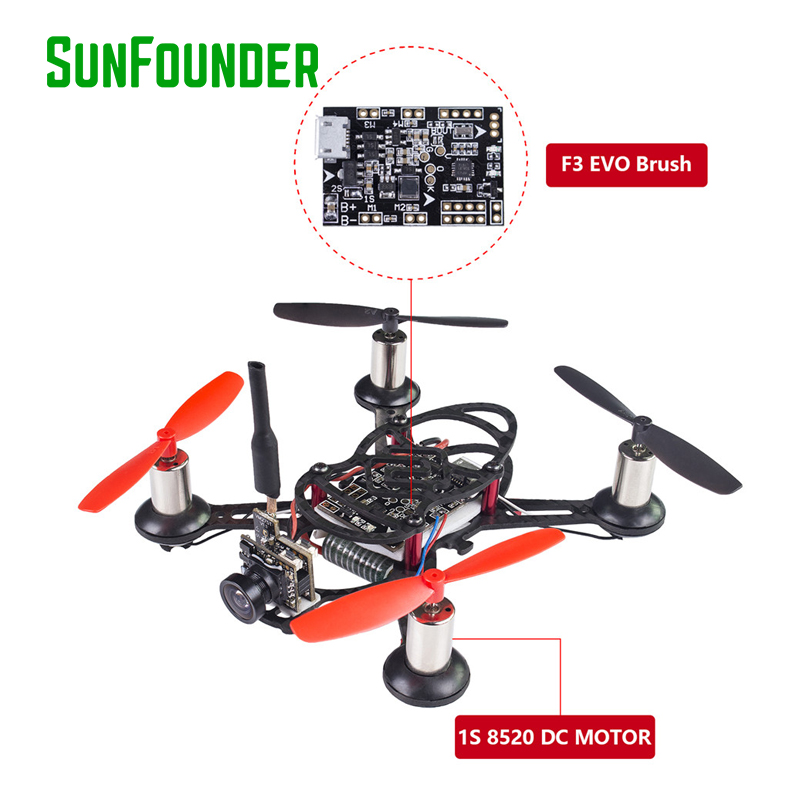 SunFounder BEE 100 RC Helicopter Carbon Fiber Drone with Camera USB Mini drone 600TVL Camera Included
