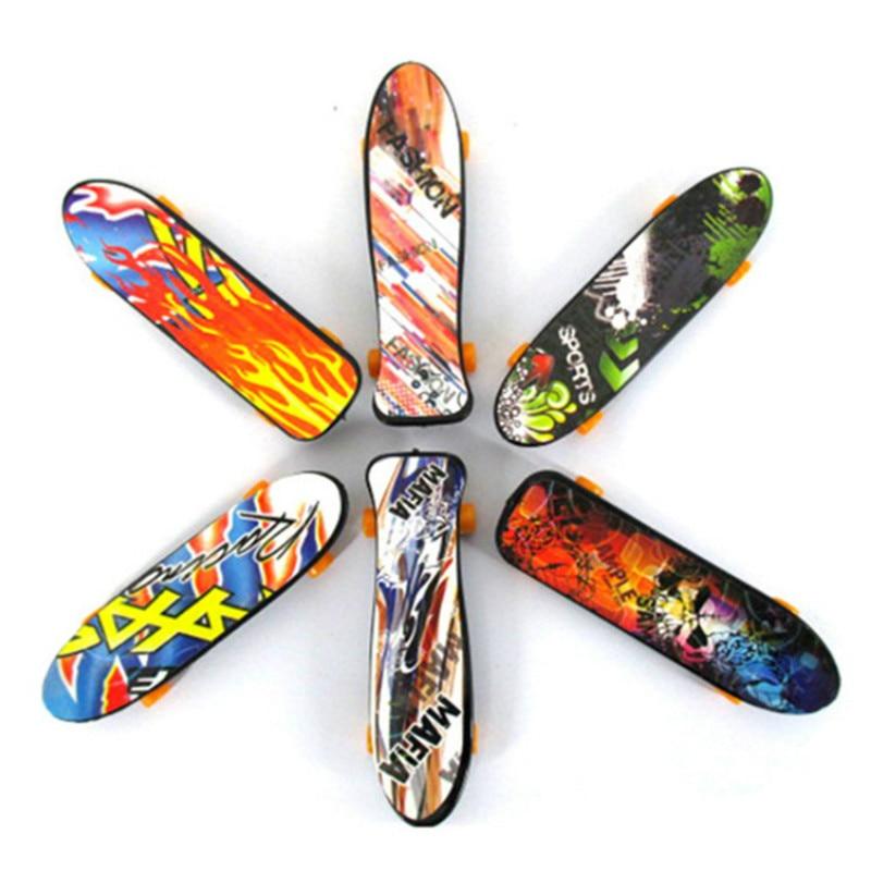 6pcs lot Mini Finger Skateboards Fingerboard Boys Toy Finger Skateboard Bearing Wheel Fingerboard Novelty Toy