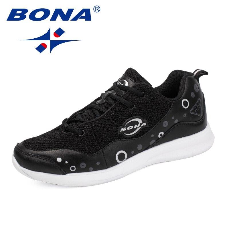 BONA nouveauté classiques Style hommes chaussures de marche à lacets hommes chaussures de sport maille hommes en plein air Jogging baskets livraison gratuite