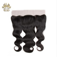 King Peruvian remy hair Body Wave lace frontal closure ear to ear 13*4 bleached knots 100% human hair closures