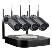 Techage 4CH Plug and Play беспроводной домашней безопасности системы Wi Fi NVR 720 P 1MP CCTV IP камера P2P открытый товары теле и видеонаблюдения комплект 2 ТБ HDD