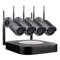 Techage 4CH 720 P Беспроводная система безопасности Wifi CCTV P2P наружное видео сетевое записывающее устройство в комплекте 1MP комплект для домашнего в...