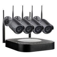 Techage 4CH 720 P ระบบกล้องรักษาความปลอดภัยแบบไร้สาย Wifi กล้องวงจรปิด P2P กลางแจ้งวิดีโอ NVR ชุด 1MP บ้านชุดเฝ้าระวัง 2 TB HDD Plug Play