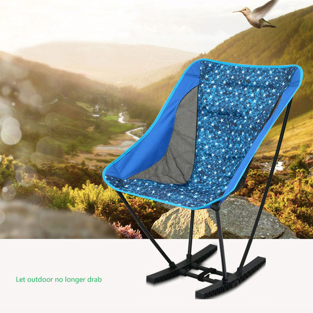 Foldable Rocking Chair Outdoor Design Portable Lightweight Folding Camping  Stool Chair Portable Beach Picnic Fishing