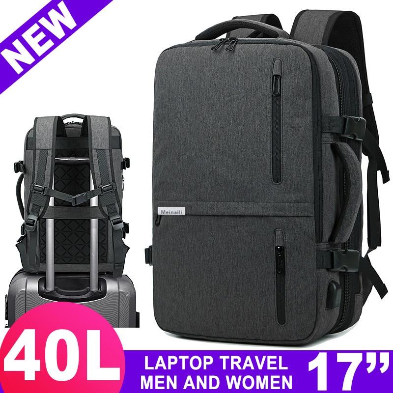 Voyage 17 pouces sac à dos pour ordinateur portable pour hommes femmes sac 15.6 ordinateur portable avec USB Charge sac à dos extérieur affaires bagages école sac à dos