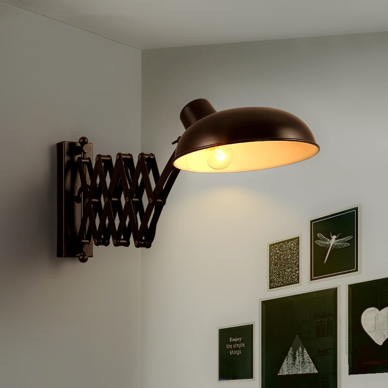 Nordic novelty creative wall lamps aisle bedroom bedside wall sconces balcony hotel LED simple background Wall lights industry wood bedside lamp american creative metal wall sconces home decor aisle balcony living room bedroom wall light wl247