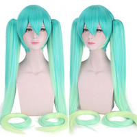 High Quality VOCALOID Cosplay Wig Hatsune Miku Costume Play Wigs Halloween party Anime Game Hair 120cm wig