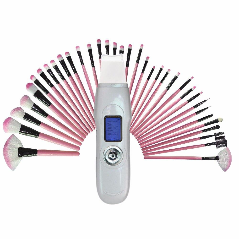 Offre spéciale EMS Sonic professionnel nettoyant pour le Massage du visage exfoliant Peeling enlever Ance pores des rides + charmante brosse cosmétique rose