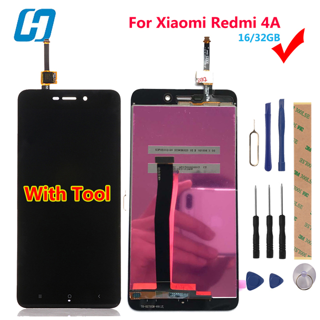 Xiaomi Redmi 4A LCD Display+Touch+Tool 100% New Digitizer Touch Screen Glass Panel For Xiaomi Redmi 4A Pro16/32GB 5.0'-Hacrin