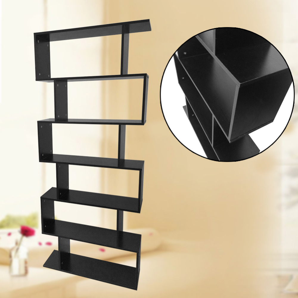6 Level Intersecting Rectangular Floating Wall Shelves Wall Mounted ...
