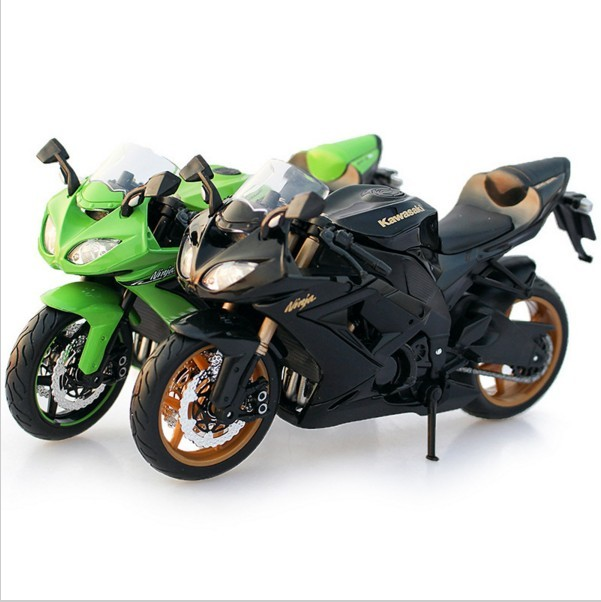 1:12 Quality Children Mini Motorcycle Kawasaki Ninja 250 Die cast model motor bike Alloy metal models race car toys for boys